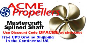 Acme 5 Blade Ski Boat Propellers (Mastercraft Splined Shaft)