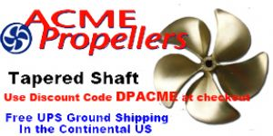 Acme 5 Blade Ski Boat Propellers (Tapered Shafts)