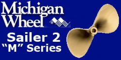 Michigan Wheel, M Series Sailboat Propellers, 2 Blade Bronze