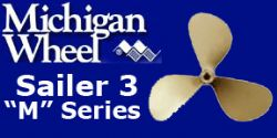 Michigan Wheel, M Series, Sail Boat Propellers, 3 Blade Bronze
