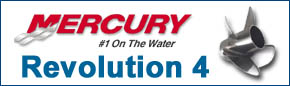 Mercury Revolution-4, Mercruiser 4 Blade Stainless Propellers